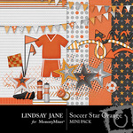 Soccer star orange mini small