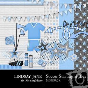 Soccer star light blue mini medium