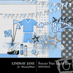 Soccer Star Light Blue Mini Pack-$3.99 (Lindsay Jane)