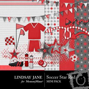 Soccer star red mini medium
