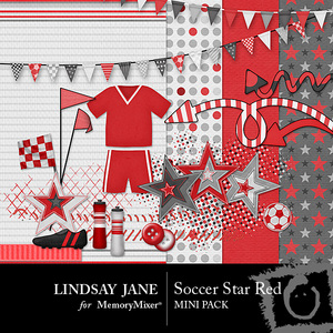Soccer star red mini medium