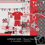Soccer star red mini small