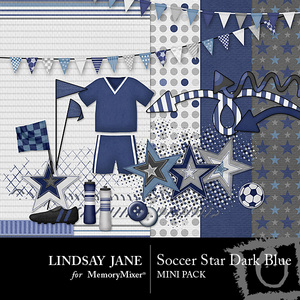 Soccer star dark blue mini medium