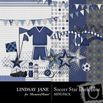 Soccer star dark blue mini small