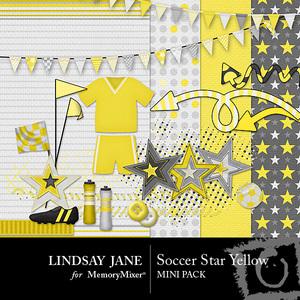 Soccer star yellow mini medium