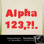 Strawberry Time Alphabet Pack-$1.99 (Indigo Designs)