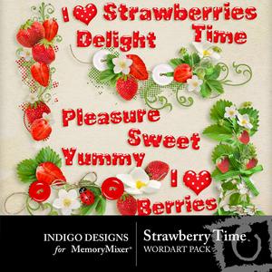 Strawberry time wordart medium