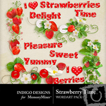 Strawberry Time WordArt Pack-$1.99 (Indigo Designs)