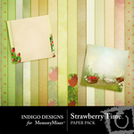 Strawberry Time Paper Pack-$2.00 (Indigo Designs)