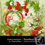 Strawberry Time Embellishment Pack-$1.50 (Indigo Designs)