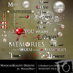 A Mothers Love MR WordArt Pack 2-$1.99 (MagicalReality Designs)