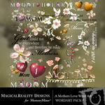 A Mothers Love WordArt Pack 1-$1.99 (MagicalReality Designs)