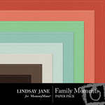 Family Moments Embossed Paper Pack-$1.99 (Lindsay Jane)