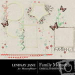 Family Moments Frame Pack-$2.49 (Lindsay Jane)