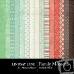 Family Moments Paper Pack-$3.99 (Lindsay Jane)