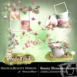 Beauty blossoms clusters medium