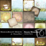 Beauty Blossoms Paper Pack-$3.99 (MagicalReality Designs)