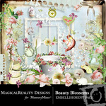 Beauty Blossoms Embellishment Pack-$3.99 (MagicalReality Designs)
