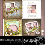 Beauty Blossoms Quick Page QuickMix Set 3-$3.99 (MagicalReality Designs)