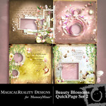 Beauty Blossoms Quick Page QuickMix Set 2-$3.99 (MagicalReality Designs)