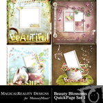 Beauty Blossoms Quick Page QuickMix Set 1-$3.99 (MagicalReality Designs)