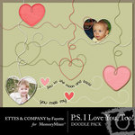 PS I Love You Too Doodles-$1.49 (Ettes and Company by Fayette)