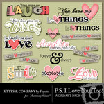 PS I Love You Too WordArt-$2.99 (Fayette Designs)