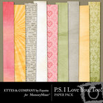 PS I Love You Too Paper Pack-$3.99 (Ettes and Company by Fayette)
