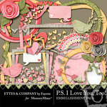 PS I Love You Too Embellishment Pack-$3.49 (Fayette Designs)