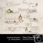 Once upon a time wordart small