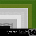 Soccer Star Embossed Paper Pack-$2.99 (Lindsay Jane)