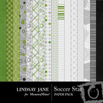Soccer Star Paper Pack-$3.99 (Lindsay Jane)