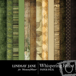 Whispering Forest Paper Pack-$3.99 (Lindsay Jane)