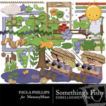 Somethings Fishy Embellishment Pack-$2.99 (Paula Phillips)