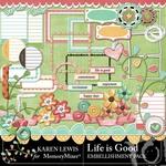 Life Is Good Embellishment Pack-$2.99 (Karen Lewis)