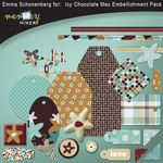 Icy chocolate embelishment pack small
