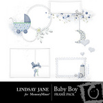 Baby boy frame pack small