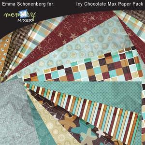 Icy chocolate paper pack medium