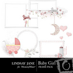 Baby girl frame pack small