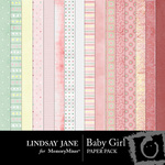 Baby Girl Paper Pack-$3.99 (Lindsay Jane)