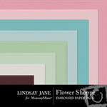 Flower Shoppe Embossed Paper Pack-$2.99 (Lindsay Jane)