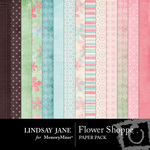 Flower Shoppe Paper Pack-$3.99 (Lindsay Jane)