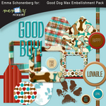 Good Dog Max Embellishment Pack-$1.80 (Emma Schonenberg)