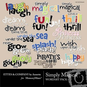 Simply magical wordart medium