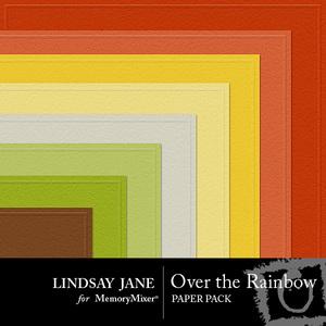 Over the rainbow embossed pp medium