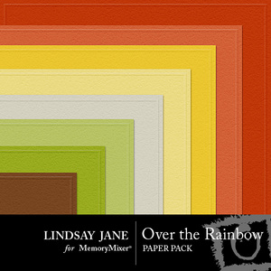 Over the rainbow embossed pp medium