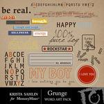 Grunge WordArt Pack-$2.99 (Krista Sahlin)