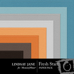 Fresh Start LJ Embossed Paper Pack-$1.50 (Lindsay Jane)