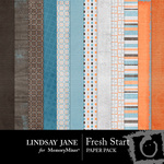 Fresh Start LJ Paper Pack-$2.00 (Lindsay Jane)