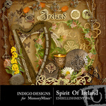 Spirit of Ireland Embellishment Pack-$2.99 (Indigo Designs)